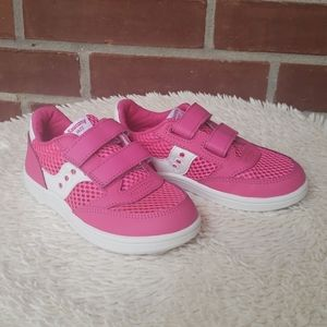 Little Girls Saucony Sneaker Pink White Toddler